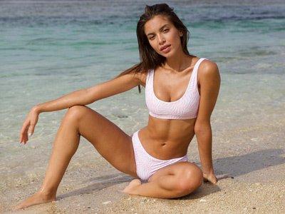 sustainable swimwear Marble swimwear