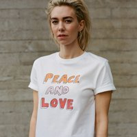 Regali di San Valentino sostenibili donna t-shirt peace and love