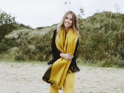 sciarpa lana sostenibile Alpaca Loca