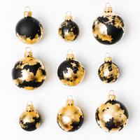 Palline di Natale oro e nere