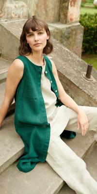 Abbigliamento sostenibile donna Linenfox