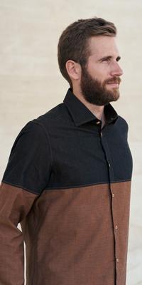 Camicia uomo sostenibile le modeste