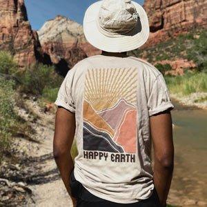 vestiti eco uomo Happy Earth